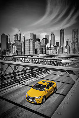 Brooklyn Bridge View Art Print