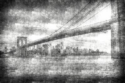 Photograph - Brooklyn Bridge Vintage  by David Pyatt