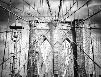 Structure Photograph - Brooklyn Bridge by Vivienne Gucwa