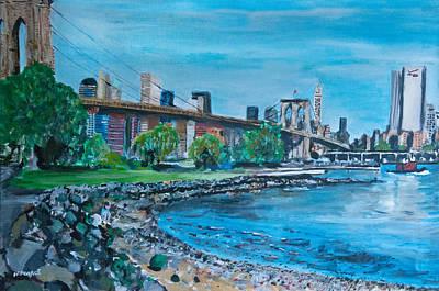 Wall Art - Painting - Brooklyn Bridge by Wayne Pearce