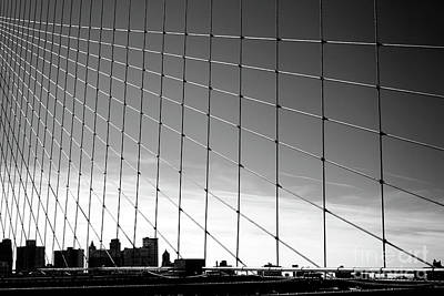 Photograph - Brooklyn Bridge Web by John Rizzuto