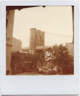 Brooklyn Bridge With Ip Px100 Film Art Print