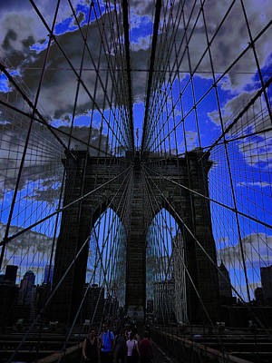 Photograph - Brooklyn Bridge by Xueling Zou
