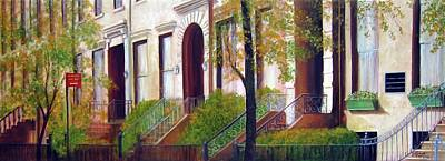 Painting - Brooklyn Brownstone Corridor 2 by Leonardo Ruggieri