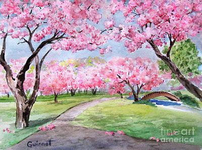 Painting - Brooklyn Cherry Blossoms by Kathleen Gwinnett