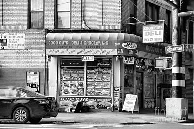 Photograph - Brooklyn Deli Grocery Black White  by Chuck Kuhn