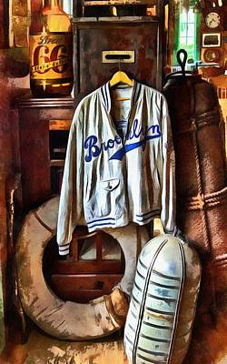 Print featuring the photograph Brooklyn Dodgers Baseball  by Thom Zehrfeld