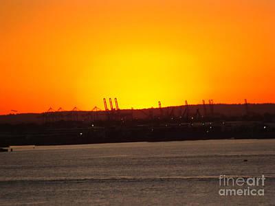 Photograph - Brooklyn Harbor September Sunset by Rod Jellison