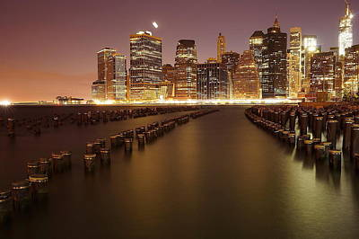 Skyline Digital Art - Brooklyn by Maye Loeser