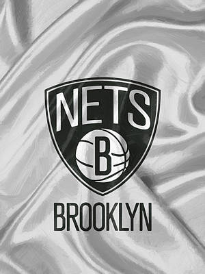 Ball Painting - Brooklyn Nets by Afterdarkness