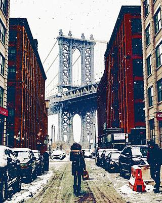 Fleetwood Mac - Brooklyn New York in Winter, United States by Celestial Images