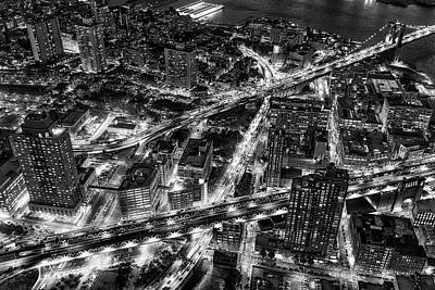 Photograph - Brooklyn Nyc Infrastructure Bw by Susan Candelario