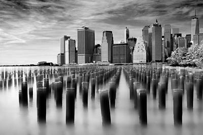 White Clouds Digital Art - Brooklyn Park Pilings by Jessica Jenney