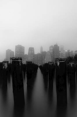 Brooklyn Pilings Art Print