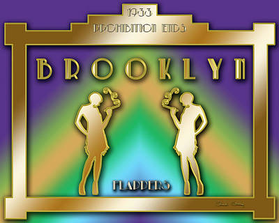 Digital Art - Brooklyn Prohibition by Chuck Staley