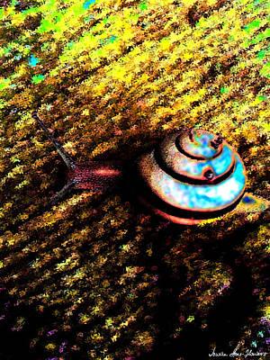 Digital Art - Brooklyn Snail by Iowan Stone-Flowers