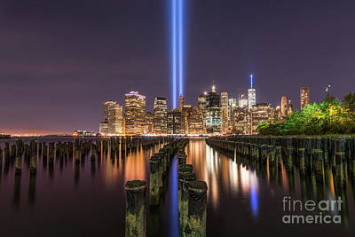 911 Memorial Photograph - Brooklyn Sticks September 11th Memorial  by Michael Ver Sprill
