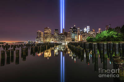 Featured Tapestry Designs - Brooklyn Sticks Tribute In Light  by Michael Ver Sprill