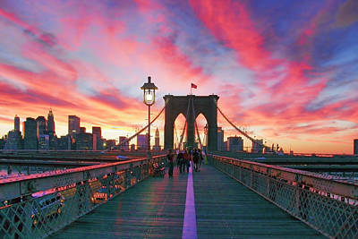 City Skyline Photograph - Brooklyn Sunset by Rick Berk
