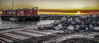 Photograph - Brooklyn Waterfront Sunset by Jeffrey Friedkin