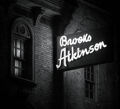 Photograph - Brooks Atkinson Theater by Mark Andrew Thomas