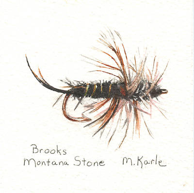 Painting - Brooks Montana Stone by Marsha Karle