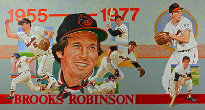 Painting - Brooks Robinson by Cliff Spohn