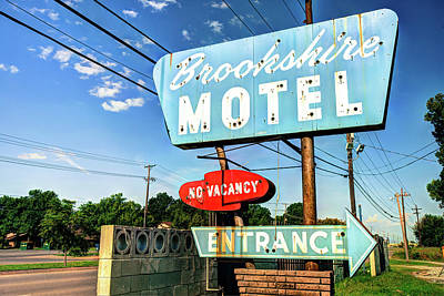 Photograph - Brookshire Motel - Route 66 Tulsa by Gregory Ballos