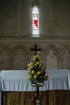 Landmark Photograph - Brookthorpe, St Swithun, 13th-century Church With Victorian Additions - Altar by Jacek Wojnarowski