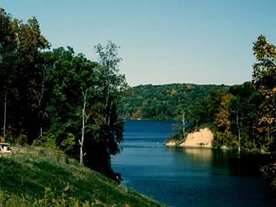 Brookville Lake Brookville Indiana Art Print