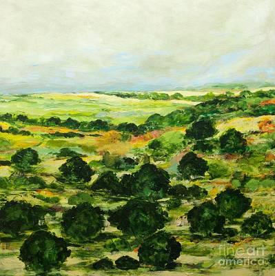 Impressionism Painting - Broom Croft by Allan P Friedlander