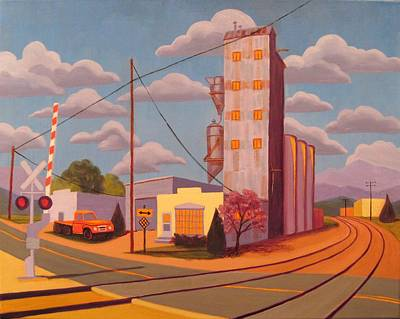 Painting - Broomfield Grain Elevator by Ruth Soller