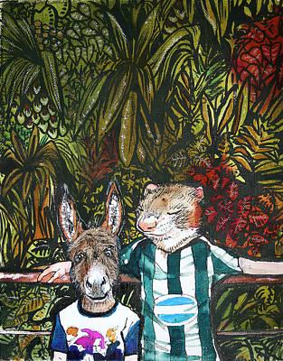 Donkey Mixed Media - Bros by Stephanie Heendrickxen