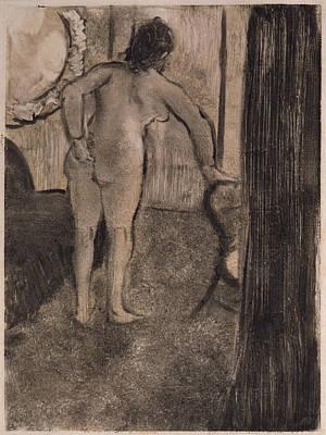 Retro Portret Painting - Brothel Scene Dans Le Salon D'une Maison Close  1879 by Edgar Degas