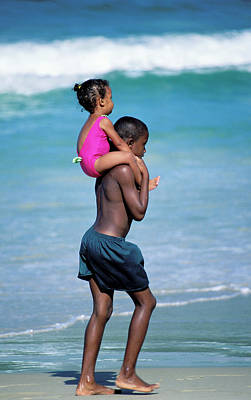 Photograph - Brother And Sister In Trinidad by Carl Purcell
