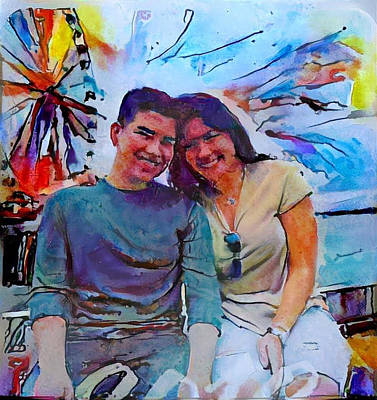 Digital Art - Brother And Sister Love by Richard Laeton