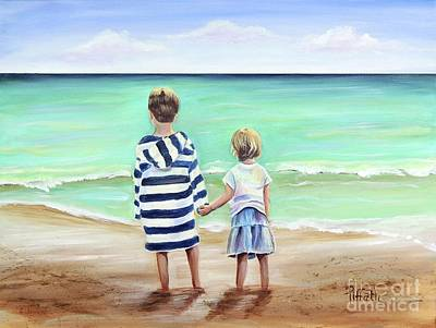 Painting - Brother And Sister by Patricia Piffath