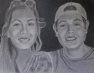 Drawing - Brother And Sister by Vera Smith