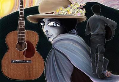 Bob Dylan Mixed Media - Brother Bob by Angie Snapp