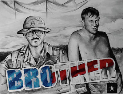 Brother Art Print by Laura Taylor