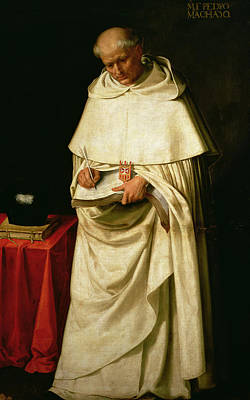 Clergy Painting - Brother Pedro Machado by Francisco de Zurbaran