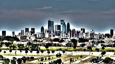 Philadelphia History Mixed Media - Brotherly Love by B Wayne Mullins