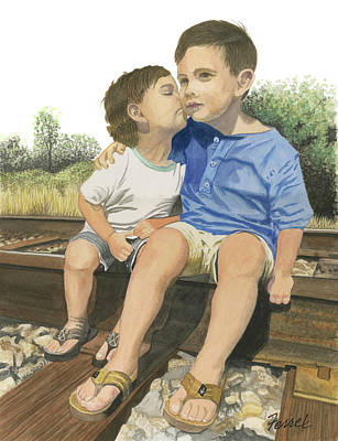 Painting - Brotherly Love by Ferrel Cordle
