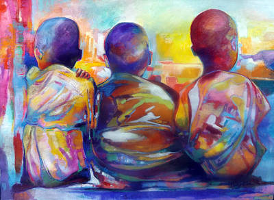 Painting - Brotherly Love by Glenford John