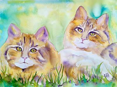 Painting - Brothers by Evita Kristapsone