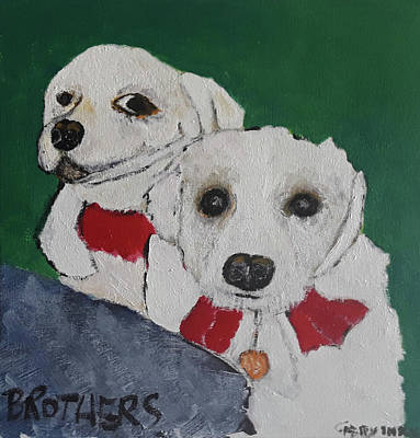 Painting - Brothers by Gabby Tary