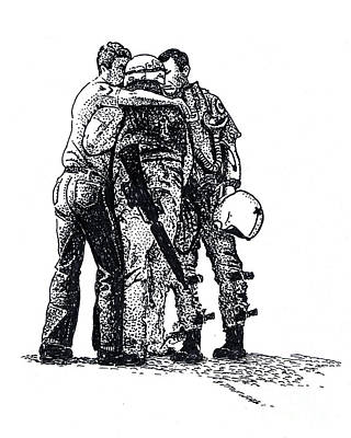 Memorial Day Drawing - Brothers In Arms by Joseph Juvenal