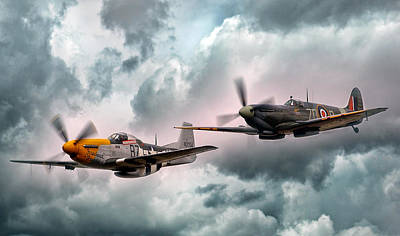Fighter Aircraft Digital Art - Brothers In Arms by Peter Chilelli