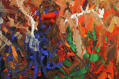 Abstract Painting - Brothers In Charm by Ron Krajewski