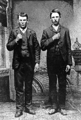 Photograph - Brothers In Crime, Jesse And Frank by Everett